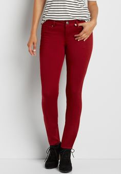 DenimFlex™ jegging in rich rust red (original price, $34.00) available at #Maurices
