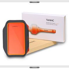 """Amazon.com: TANNC Sports Armband for Running (or Exercising), Running Case, Sports Case (4.2""""L x 3.8""""W) for iPhone 6 / 5s or Smaller Devices, Adjustable Ultra Light Case with Key Holder(Grey with Orange): Cell Phones & Accessories"""