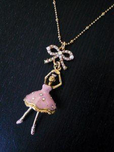 Betsey Johnson Ballerina necklace.  Recital gift:)