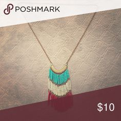 Long chained necklace It's a bohemian style chained necklace Jewelry Necklaces