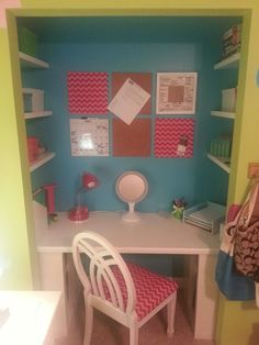 the perfect way to turn a closet into a desk