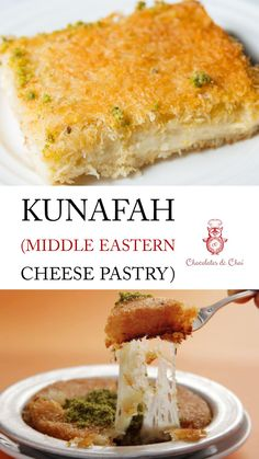 Ramadan Recipes 447545281723050504 - Delicious recipe for Kunafah / Kunafa (a Middle Eastern Cheese Pastry dessert), that's ideal for all kinds of special occasions, but often considered a Ramadan food! Ramadan Desserts, Ramadan Recipes, No Cook Desserts, Dessert Recipes, Ramadan Food, Arabic Dessert, Arabic Sweets, Arabic Food, Chocolate Chai Recipe