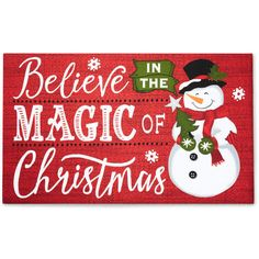 Traditions Collection Snowman Christmas Rubber Doormat ❤ liked on Polyvore featuring home, home decor, holiday decorations and snowman home decor