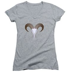 Low Poly Aoudad - Women's V-Neck T-Shirt