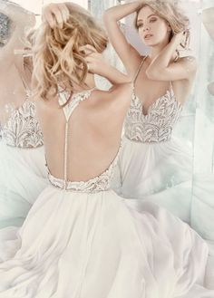 New Hayley Paige beaded chiffon wedding dress | Hayley Paige Style 6609 | Best…