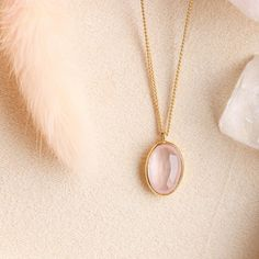 Pink quartz is said to be calming and healing while black onyx creates focus and grounding. The perfect everyday pendant, our PROTECT… Pink Quartz, Gold Necklace, Pendant Necklace, Quartz Stone, Black Onyx, Calming, Blush Pink, Balloon, Cable