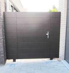 aluminium poort - avior - J-Technics Backyard Gates, Side Gates, Outdoor Doors, Patio, Garage Doors, Temperley, Gardening, School, Home