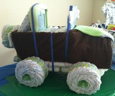 Mini Jeep diaper cake Baby Shower Gifts For Boys, Baby Shower Parties, Baby Boy Shower, Baby Showers, Jeep Diaper Cake, Diaper Cakes, Mini Jeep, Diaper Parties, Reveal Parties
