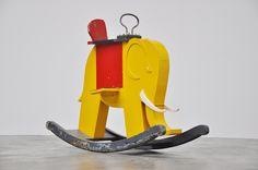 """colored rocking elephant, Holland """"De Stijl"""", 1940"""