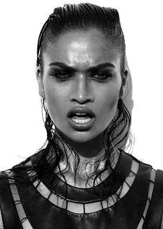 SHANINA SHAIK Australian born International model .IMG models