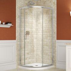 DreamLine Solo 31-3/8 x 31-3/8 Frameless Clear Sliding Shower Enclosure | Overstock™ Shopping - Big Discounts on DreamLine Shower Doors