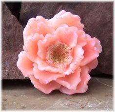 Magnificent Ruffled Magnolia Glycerin Soap Pastel Shades of Pink | Soapsmith - Bath & Beauty on ArtFire