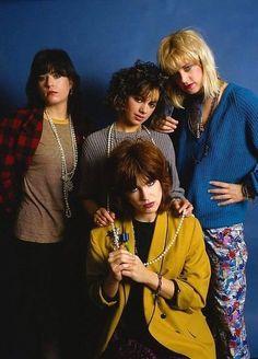 "vintagesalt: ""The Bangles "" The Bangles, 80s Music, Rock Music, Bass, Susanna Hoffs, Michael Steele, Billy Ocean, John Mellencamp, Kenny Loggins"