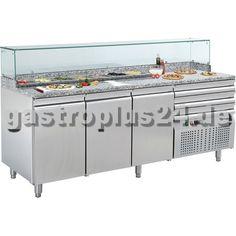 Der #Pizzatisch mit einem Edelstahl-Unterbau für die #Pizzeria: #Gastronomiebedarf bei www.gastroplus24.de
