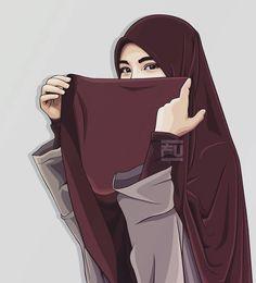 From hijab to niqab Anime Muslim, Muslim Hijab, Hijab Niqab, Hijab Chic, Tmblr Girl, Hijab Drawing, Modele Hijab, Islamic Cartoon, Hijab Cartoon