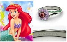 Un amore da favola: gli anelli di fidanzamento ispirati alle principesse #Disney | #Ariel