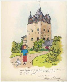 HERGÉ DÉFENSEUR DU PATRIMOINE ARCHITECTURAL... (1956) - Tintinomania