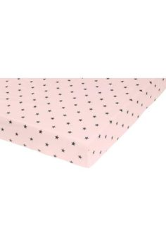 Fitted sheet in fine-threaded, closely woven cotton in 30s yarn with a star print. Fits mattresses up to 23 cm thick.