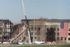 The Pentagon in Arlington, VA following the terrorist attack on Sept. 11, 2001