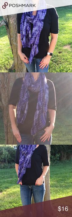 American Eagle Scarf Tie Dye Purple New with tags American Eagle Scarf. American Eagle Outfitters Accessories Scarves & Wraps