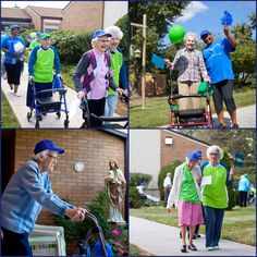 More than 20 retired nuns, some with walkers and wheel chairs, participated in a 1K walk at the Villa, a retirement home for religious sisters, to raise money for Baltimore's Marian House Sept. 17.
