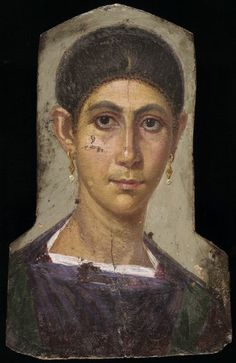 Fayum mummy portrait, Roman Egypt100CE - 300CE Fayum / Romano-Egyptian / Roman / EncausticMore Pins Like This At FOSTERGINGER @ Pinterest