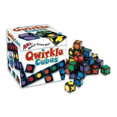 GAMES THAT TEACH: Roll, Match, Score. Qwirkle Cubes is playable from early ages up, allowing young children and older individuals alike to develop and hon Cube Games, Mini Games, All Games, Toys For Us, Kids Toys, Rainbow Resource, Educational Games For Kids, Strategy Games, Board Games