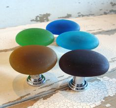 Teal Beach Glass Cabinet Knob Drawer Pull $12   Product Images Of