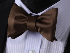 Chocolate Bow Tie and Pocket Square