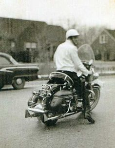 Elvis Presley on his  Hydra Glide                              …