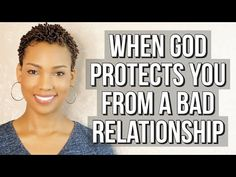 Is God protecting your form a bad relationship? Here are 5 signs that God is protecting you from a bad relationship. RELATED VIDEOS // 10 Signs of a Bad or T. Ex Factor, Gift From Heaven, Bad Relationship, Ups And Downs, Marry You, Social Skills, Be Yourself Quotes, My Music, Writer