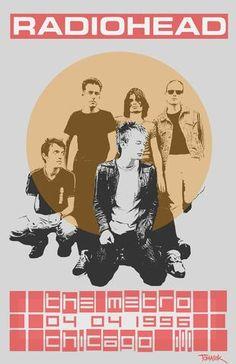 Radiohead - Chicago 1996 - Mini Print
