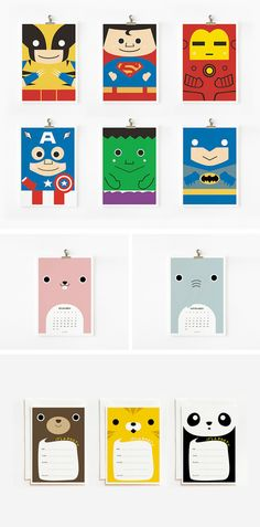 Cute prints, invitations and calendars by Loopz in Inspiration and ideas of cards, invitations and stationery for babies, children and adults parties, for events such as anniversaries or birthdays or dinners