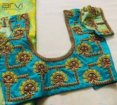No photo description available. Wedding Saree Blouse Designs, Pattu Saree Blouse Designs, Simple Blouse Designs, Stylish Blouse Design, Fancy Blouse Designs, Wedding Blouses, Designer Blouse Patterns, Skirt Patterns, Coat Patterns