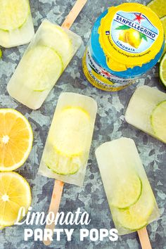 """A frozen margarita pop is one refreshing way to celebrate summer! Freeze tequila, citrus slices, and your favorite flavor (we love Limonata!) in popsicle molds overnight for this tart, tasty party treat! Popsicle Molds, Popsicle Recipes, Frozen Desserts, Frozen Treats, Frozen Cocktail, Good Food, Yummy Food, Slushies, Summer Treats"