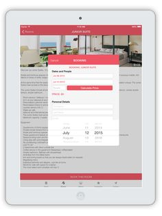 Hotel Booking APP on Behance Hotel Booking App, Empty Room, Behance, Spare Room
