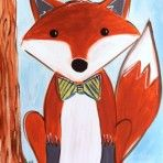 jpg from Easel(y) Amused Fox Painting, Painting For Kids, Art Lessons For Kids, Art For Kids, Motifs Animal, Winter Art Projects, 5th Grade Art, Ecole Art, Fox Art