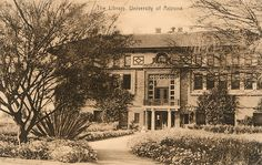 Postcard of the University of Arizona's first library. by madampince, via Flickr