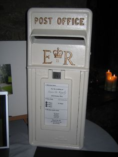 genuine royal mail post box ivory gold wedding hire ebay wedding post box