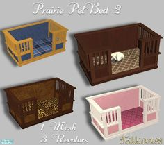 Your pet will appreciate having as nice a bed as you have. Crafted in the Prairie Style this bed surrounds your pet in comfort and style. New mesh and 3 recolors. Found in TSR Category 'Objects' Sims 4 Cc Furniture, Crate Furniture, Sims 4 Tsr, Sims Cc, Toddler Cc Sims 4, Sims 2 Pets, Sims 3 Mods, The Sims 4 Pc, Sims 4 Children