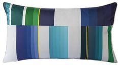 yves delorme color block pillow - indigo. $95 at ABC carpet and Home, NYC