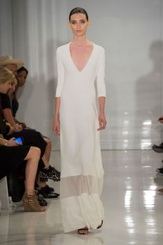 Another hit for the minimalists, this Chado Ralph Rucci look is like a late '90s dream.