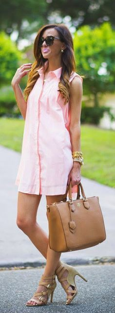 Daily New Fashion : Pink T-Shirt Dress by Sequins and Things