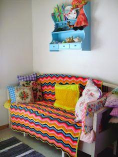 .Knitted blanket