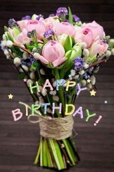 68 trendy flowers bouquet birthday wishes Birthday Blessings, Birthday Wishes Quotes, Happy Birthday Messages, Happy Birthday Greetings, Happy Birthday Flowers Wishes, Inspirational Birthday Wishes, Happy Birthday Bouquet, Happy Birthday Pictures, Happy Pictures