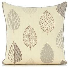 Asda George Home Natural Leaf Cushion £7.00