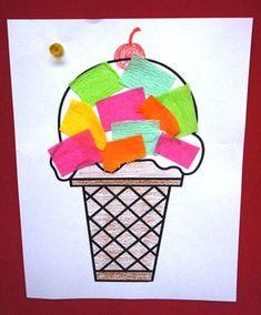 Ice cream craft preschool ice cream art, ice cream crafts, i Kids Crafts, Summer Crafts For Kids, Daycare Crafts, Summer Art, Toddler Crafts, Spring Crafts, Art For Kids, Art Children, Toddler Art