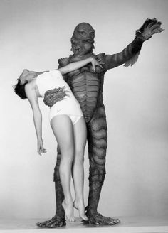 Kay Lawrence (Julie Adams) & the Gill-man (Ben Chapman) - Creature from the Black Lagoon