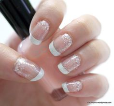 Lace  nails. This would be pretty to have done to the ring finger while the rest of the hand is in plain French tips.