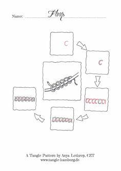 Floop - A Zentangle Pattern by Anya Lothrop, CZT